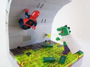 C'mon, Spidey, let's fight the Lizard! Er, Reptar?