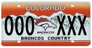 Broncos Plate