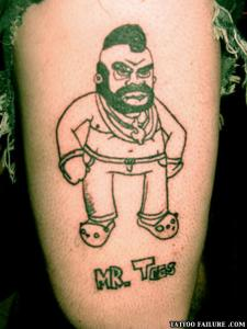 This looks like the offspring of Mr. T and Carl from Aqua Teen