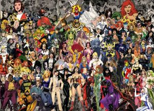 It was difficult to find a picture where all the ladies weren't super sexualized